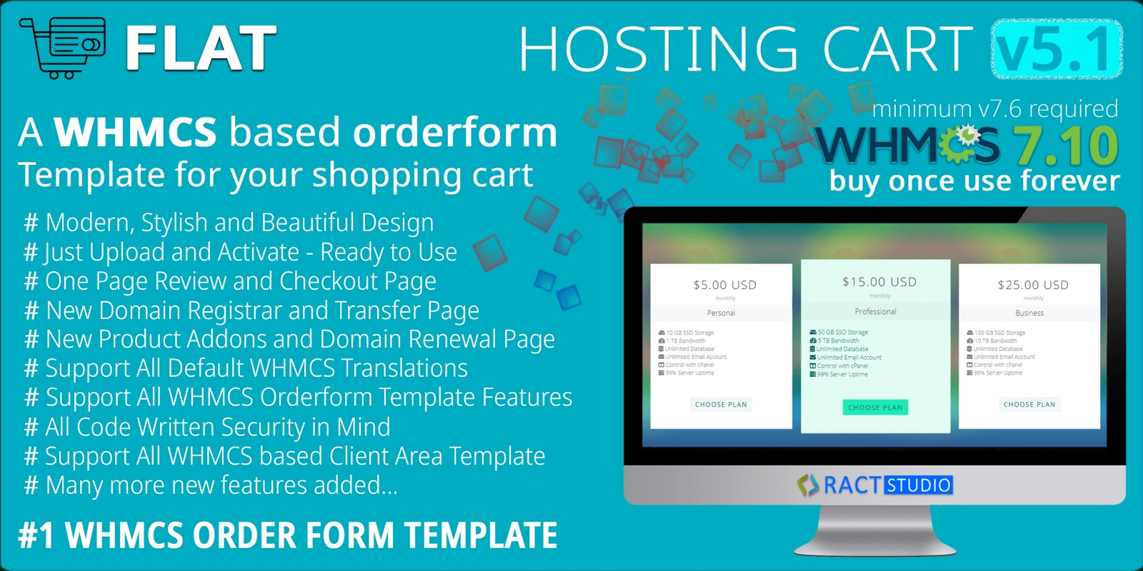Flat Hosting Cart - WHMCS Order Form Template