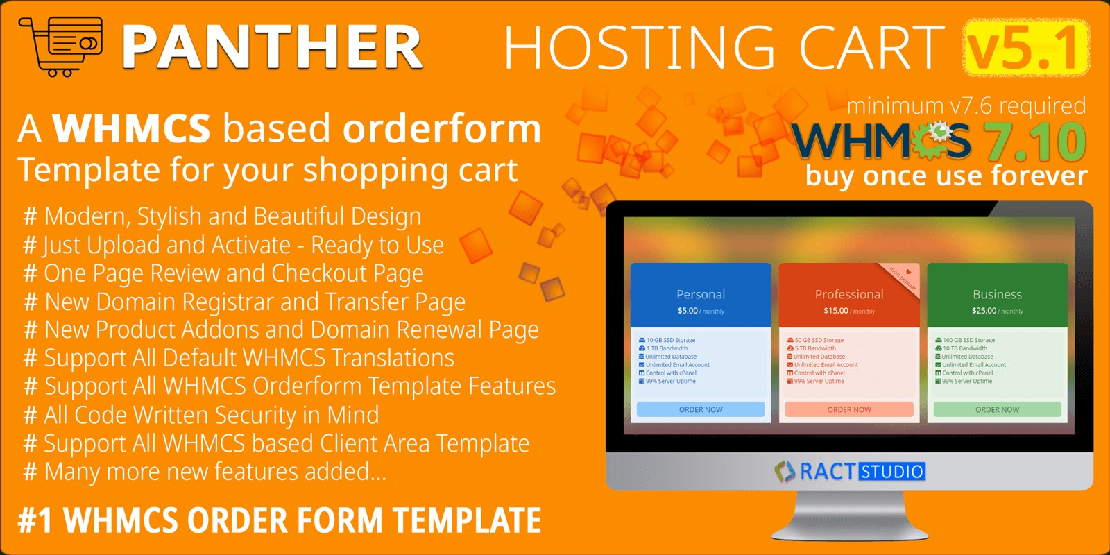 Panther Hosting Cart - WHMCS Order Form Template