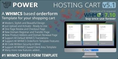 Power Hosting Cart - WHMCS Order Form Template