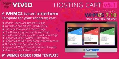 Vivid Hosting Cart - WHMCS Order Form Template