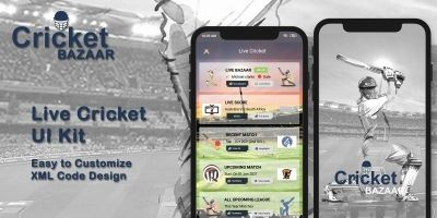 Live Cricket - Android Design UI Kit