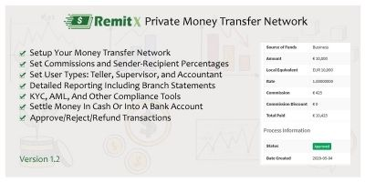 RemitX - Private Money Transfer Network