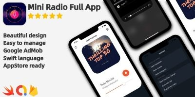 Radio Mini - Full iOS Application
