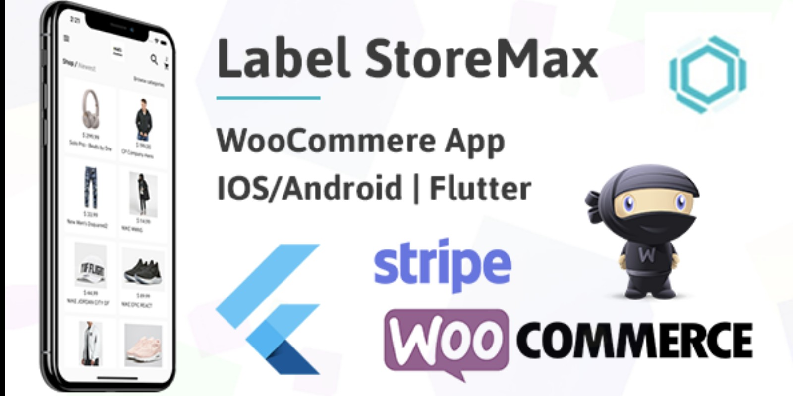 Flutter WooCommerce App Label StoreMax iOS Android