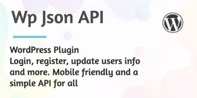 WP JSON API Plugin for WordPress REST API