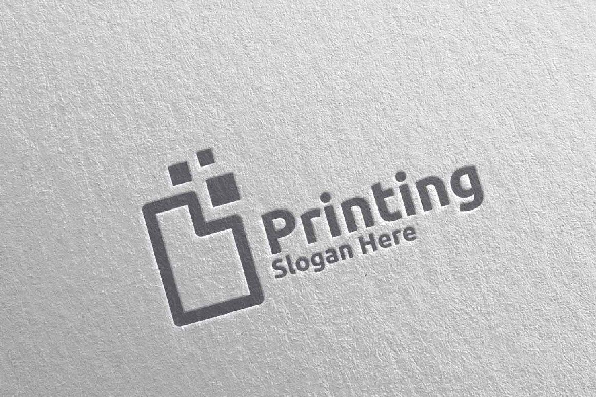 Paper Printing Company Logo Screenshot 3