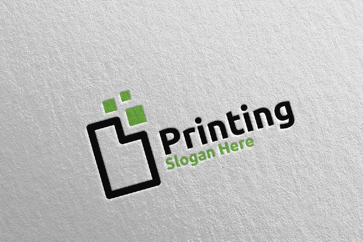 Paper Printing Company Logo Screenshot 4