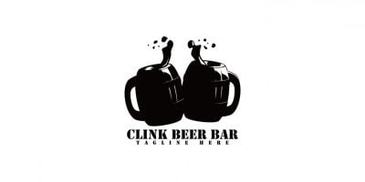 Clink Beer Bar Logo Template