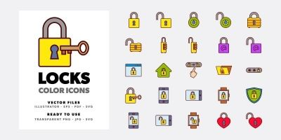 Locks Icon Set