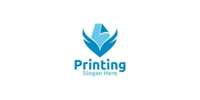 Paper fly Printing Company Logo Design