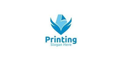 Paper fly Printing Company Logo Design