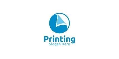 Paper Printing Company Logo Design