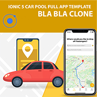 Ionic 5 Car Pooling Full App Template