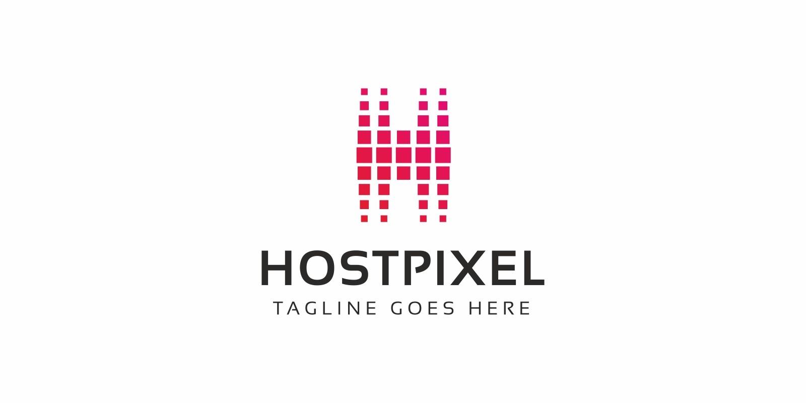 H Letter Pixel Logo
