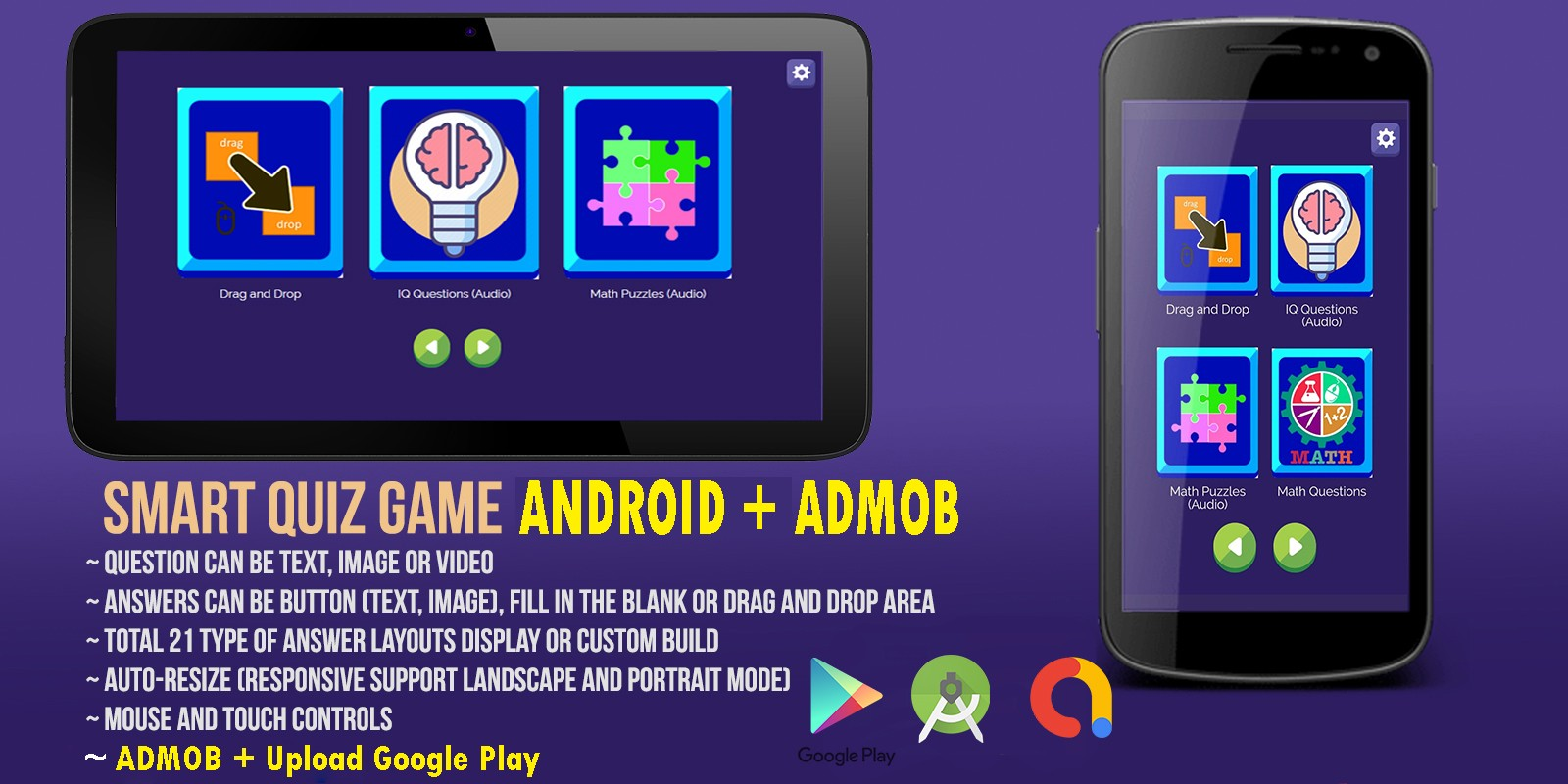 Smart Quiz Game Android Studio