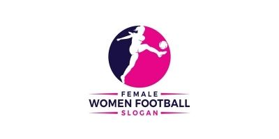 Women Football Logo Design