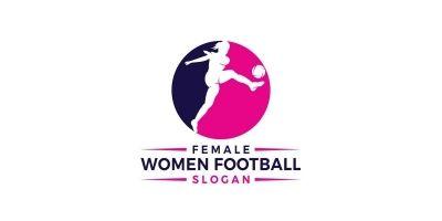 Women Football Logo Design
