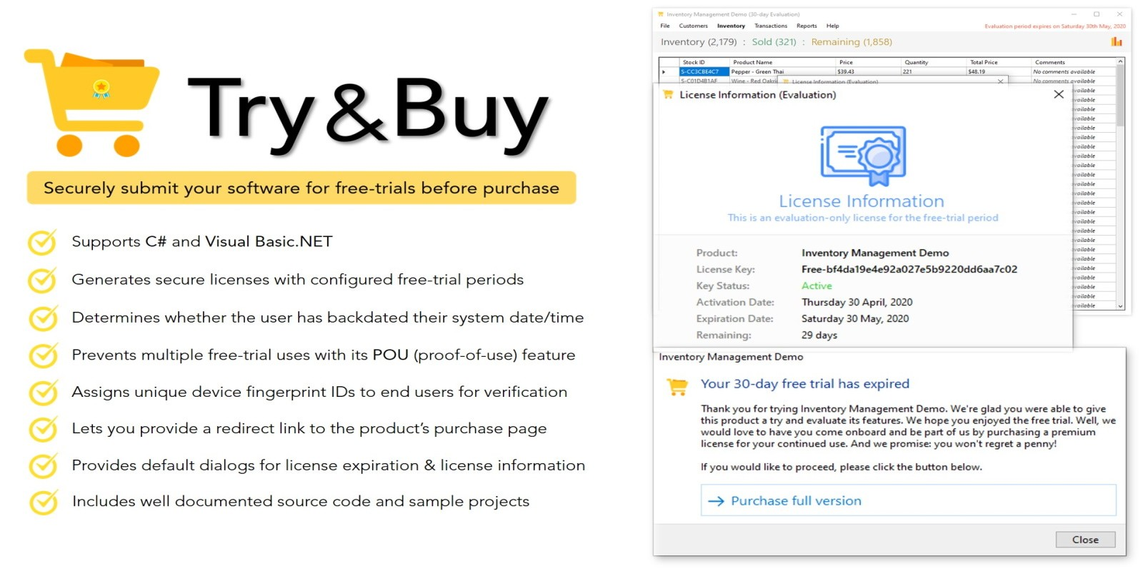 Try And Buy - Trial Maker For .NET Applications