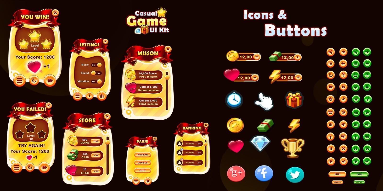 Casual Game UI kit