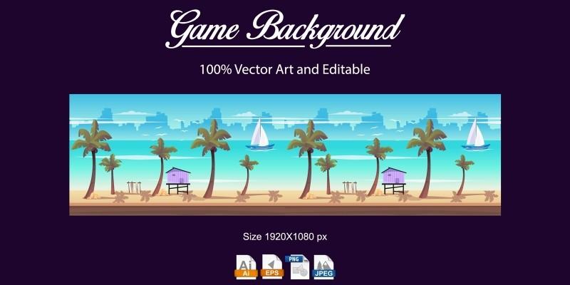 Beach Game Background