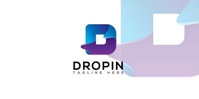 Dropin Letter D logo