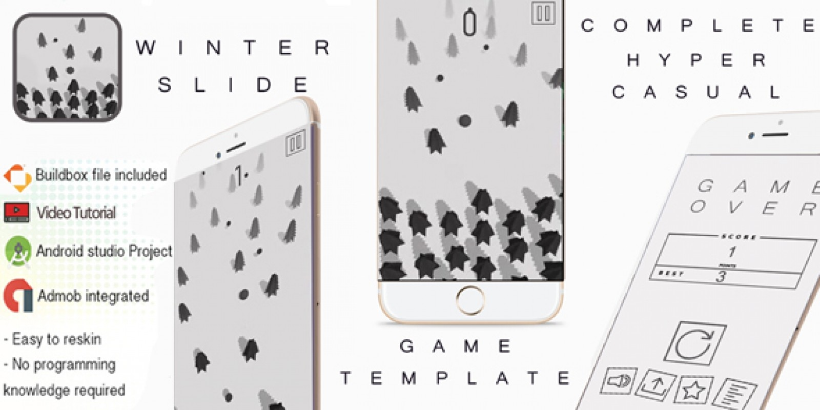 Winter Slide Buildbox 3 Template With Admob