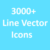 3000 Line Vector Icons Pack
