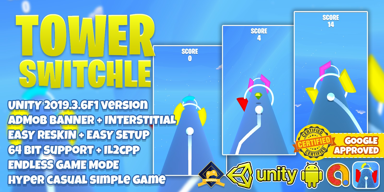 Tower Switchle Unity3D Source Code
