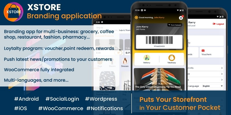 XStore - WooCommerce Store App Xamarin