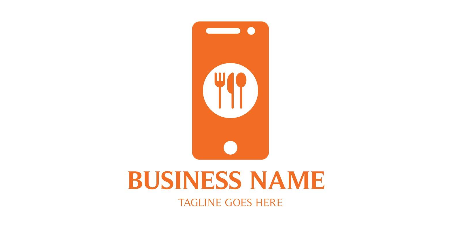 Mobile Order Online Food Logo