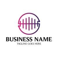 Sound Wave Circle Logo