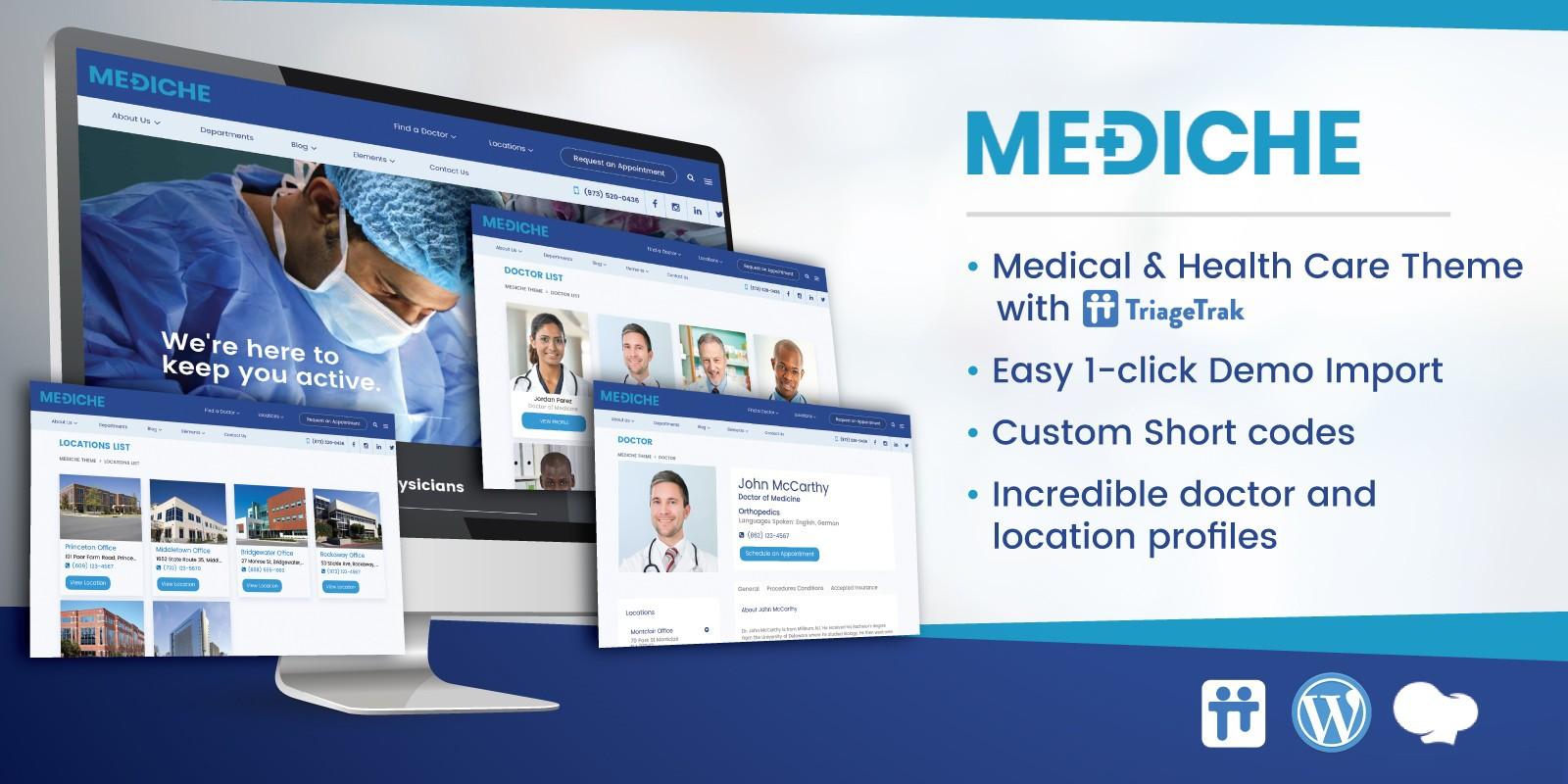 Mediche Health Care and Medical WordPress Theme