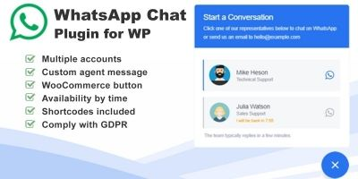 WhatsApp Chat Plugin for Wordpress