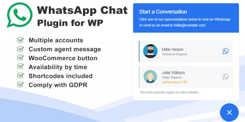 WhatsApp Chat Plugin for Wordpress