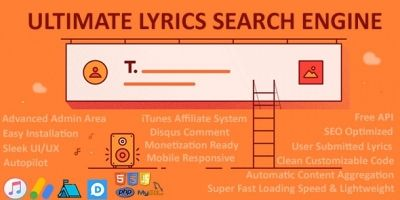 Ultimate Lyrics Search Engine - PHP Script