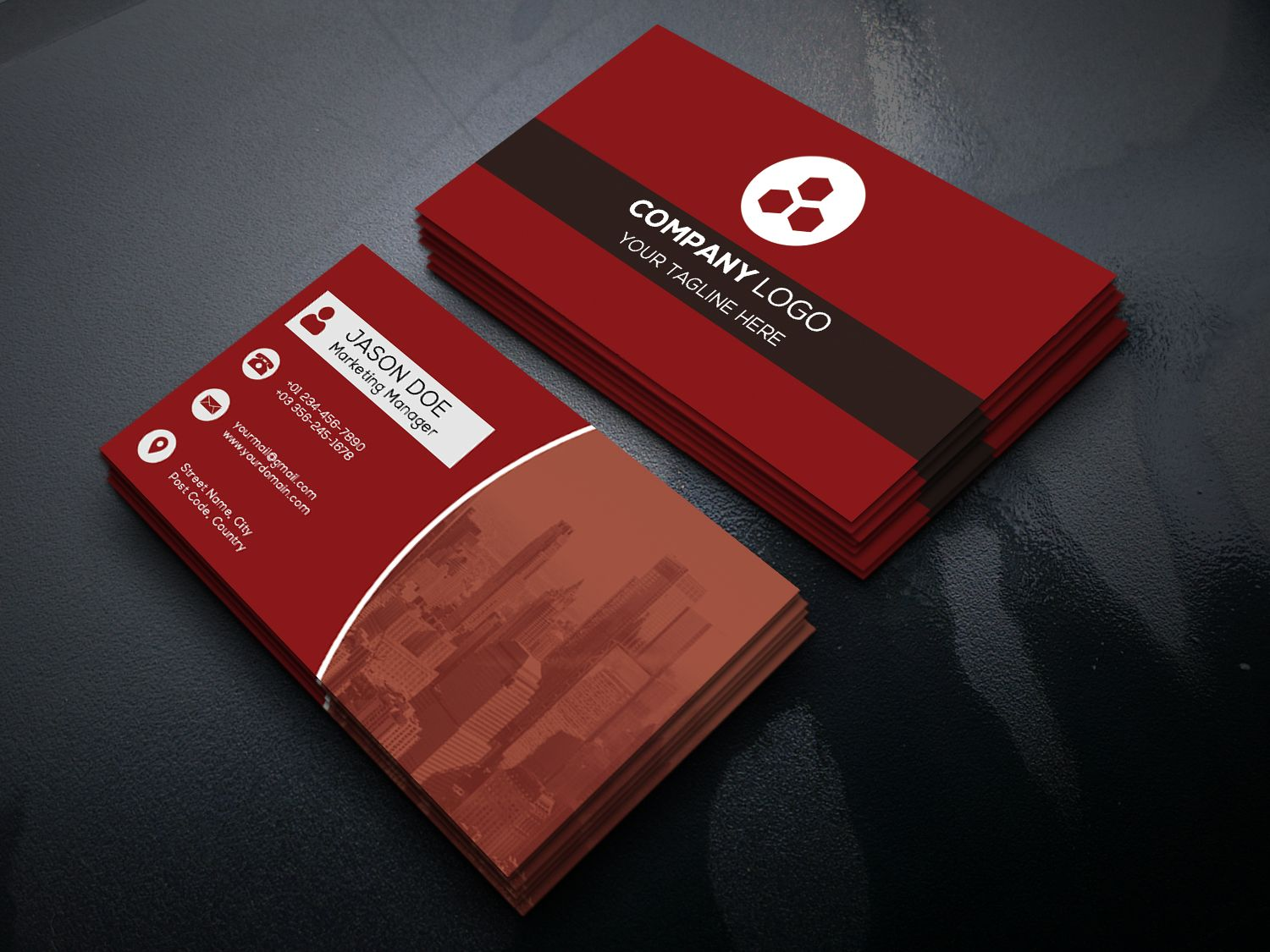 clean and simple business card templatemouritheme