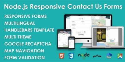 Node.js Responsive Contact Us Forms