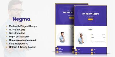 Negma - HTML5 Personal Portfolio Template