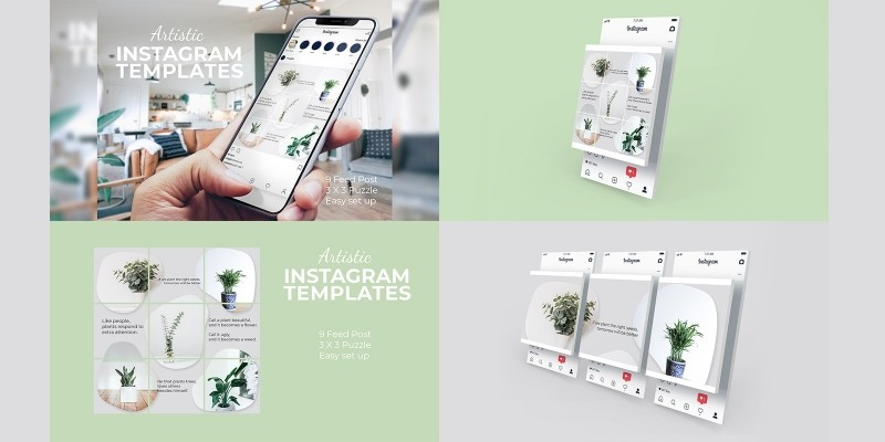 Artistic Instagram Feed Templates