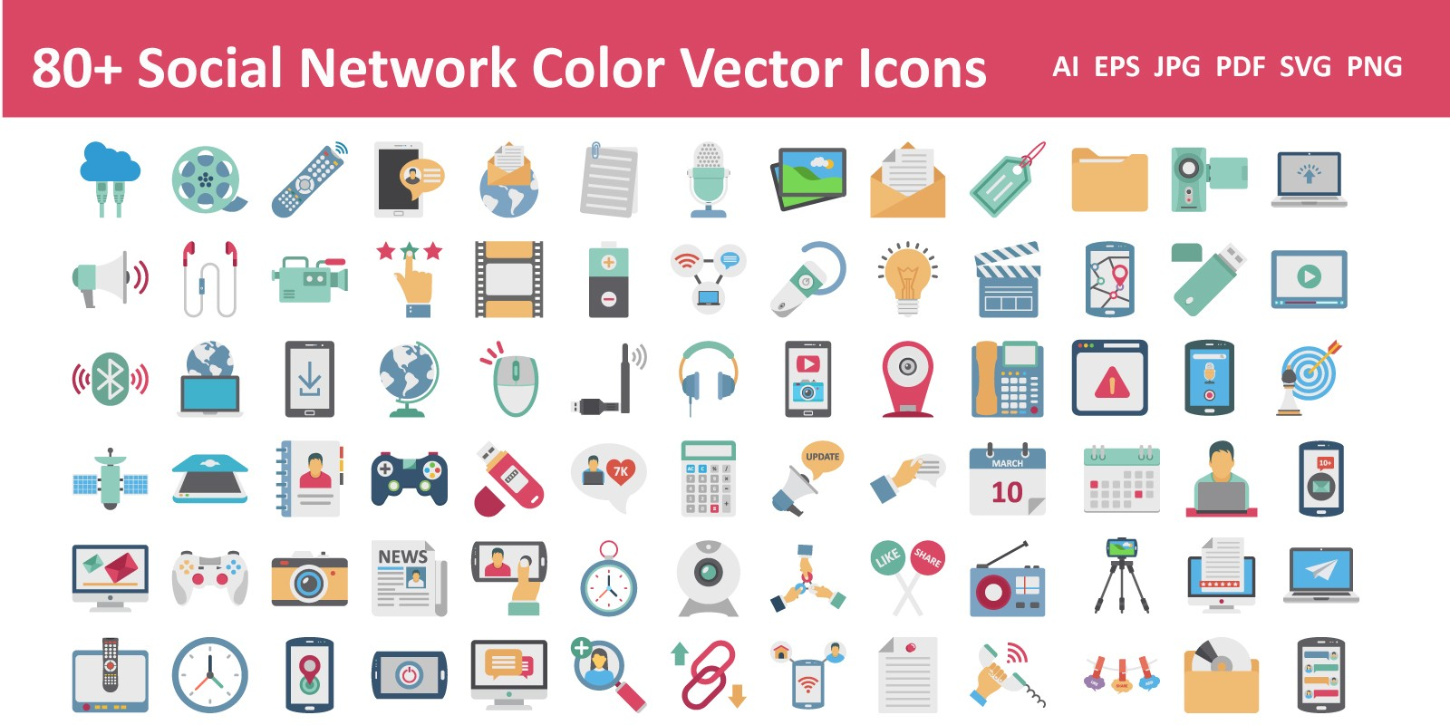 Social Network Color Vector Icon