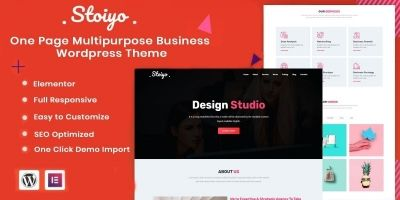 Stoiyo - One Page Business Wordpress Theme