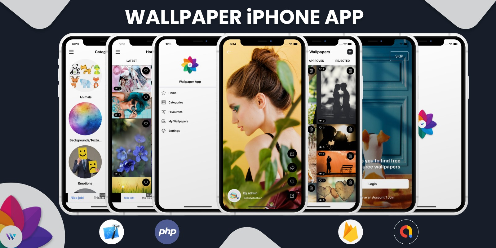 Wallpaper - iPhone App with Admin Panel