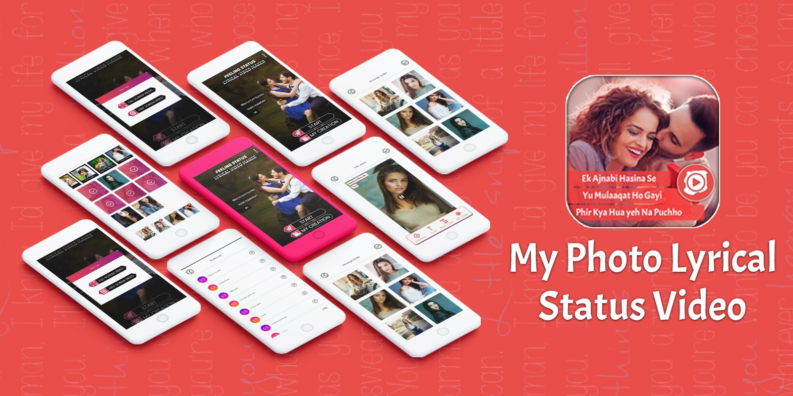 My Photo Lyrical Video Status Maker - Android App