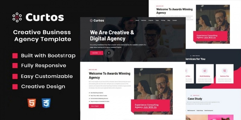 Curtos – Creative Business Agency Html Template