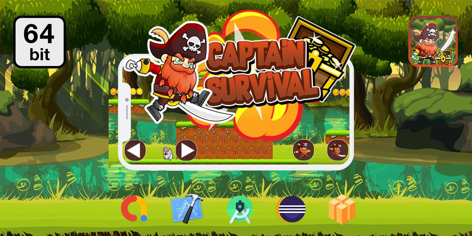 Captain Survival - Buildbox Template
