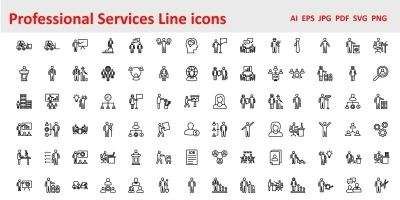 Professional Services Vector Icons