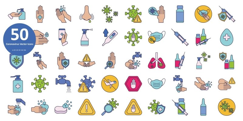 Virus Vector Icons