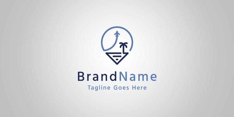 Travel Pin Logo Template