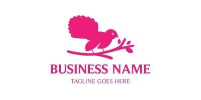 Bird Sitting Tree Logo