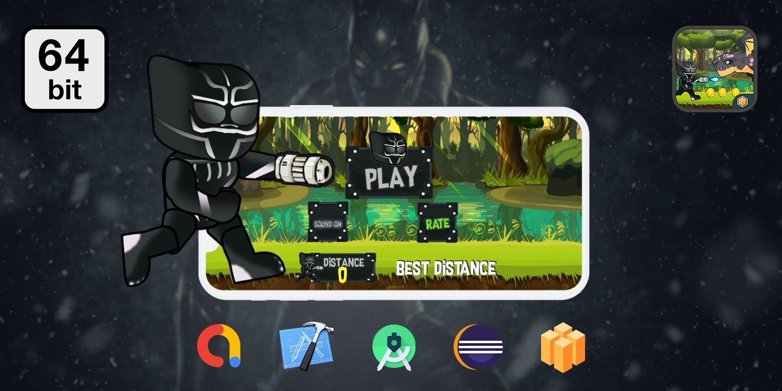 Black Ranger Endless 64 bit  - Buildbox Template